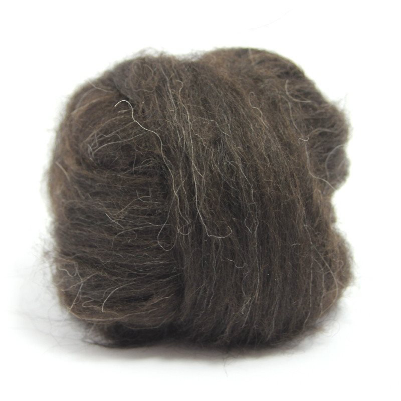 Paradise Fibers Icelandic Wool Roving 4oz / Black - 2
