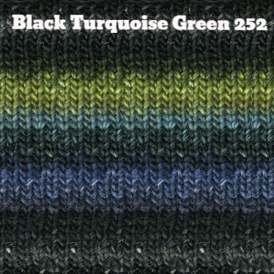 Noro Silk Garden Yarn Black Turquoise Green 252 - 5