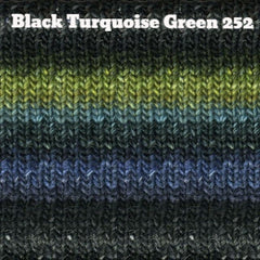 Paradise Fibers Yarn Noro Silk Garden Yarn Black Turquoise Green 252 - 5