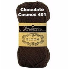 Paradise Fibers Yarn Scheepjes Bloom Yarn Chocolate Cosmos 401 - 2
