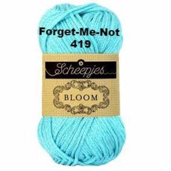 Paradise Fibers Yarn Scheepjes Bloom Yarn Forget-Me-Not 419 - 24
