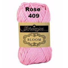 Paradise Fibers Yarn Scheepjes Bloom Yarn Rose 409 - 13