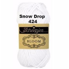 Paradise Fibers Yarn Scheepjes Bloom Yarn Snow Drop 424 - 28