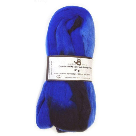 Artfelt Multi Colored Merino Standard Rovings Blue Black 1968 - 16