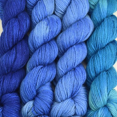 Paradise Fibers Yarn Artyarns Merino Cloud Gradient Kit Blue Thunder - 7