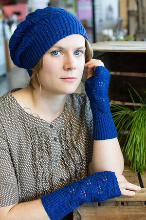 Juniper Moon Farm Blue Laurel Hat & Mitts Pattern-Patterns-
