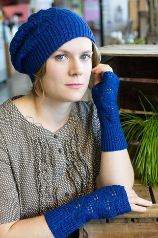 Juniper Moon Farm Blue Laurel Hat & Mitts Pattern