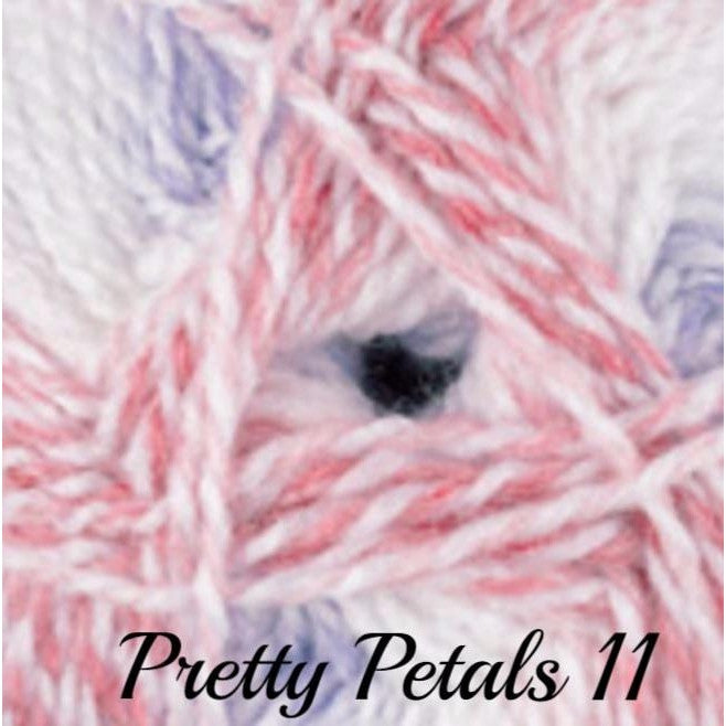 James C. Brett BABY Marble DK Yarn Pretty Petals 11 - 12