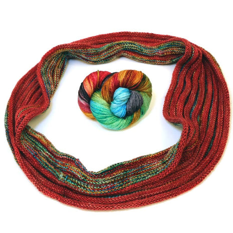 Boomslang Cowl Kit-Kits-Paradise Fibers-Dancing Machine Looking Glass-Paradise Fibers