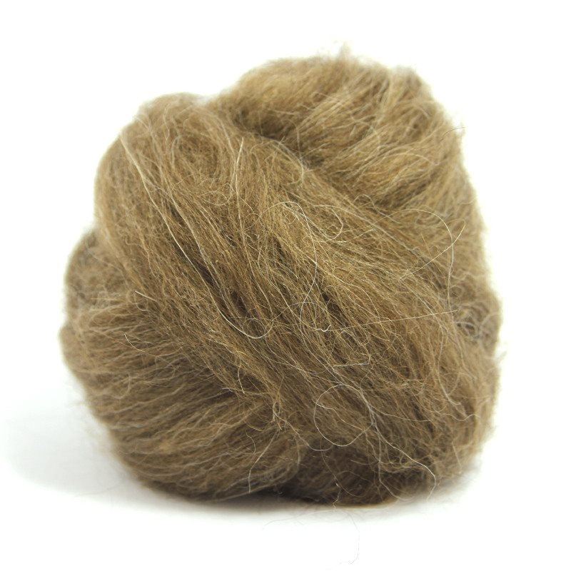 Paradise Fibers Icelandic Wool Roving 4oz / Brown - 3