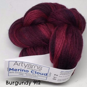 ArtYarns Merino Cloud Yarn Burgundy 912 - 4