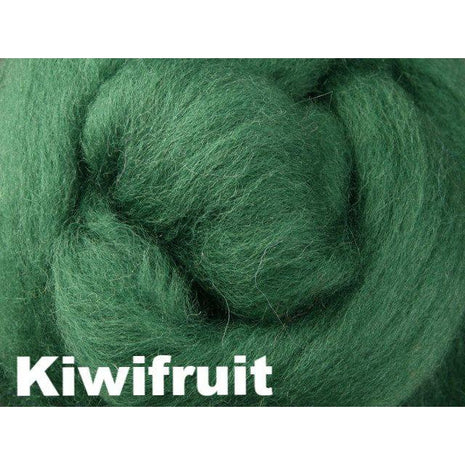 Paradise Fibers Fiber Ashford Solid Colored Corriedale Sliver (4oz bag) Kiwifruit 01 / 4oz - 2