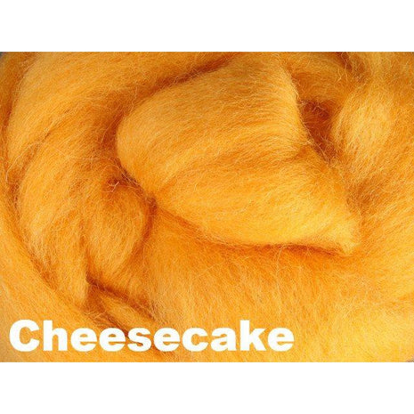 Paradise Fibers Fiber Ashford Solid Colored Corriedale Sliver (4oz bag) Cheesecake 03 / 4oz - 4