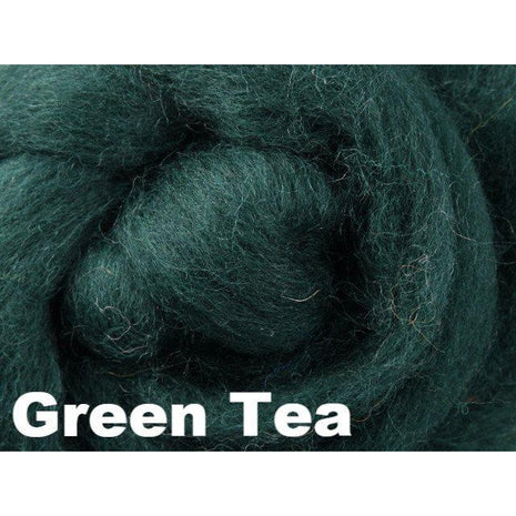 Paradise Fibers Fiber Ashford Solid Colored Corriedale Sliver (4oz bag) Green Tea 04 / 4oz - 5