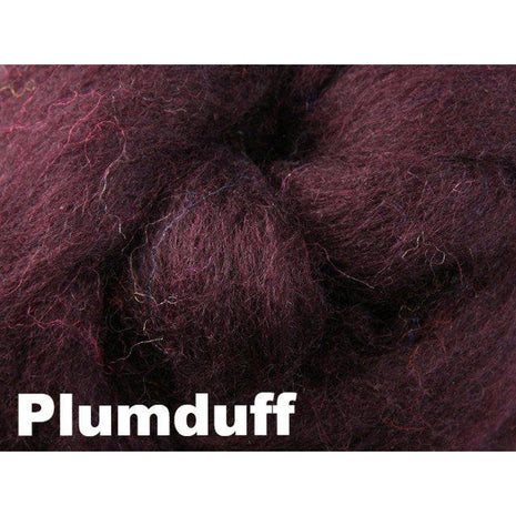Paradise Fibers Fiber Ashford Solid Colored Corriedale Sliver (4oz bag) Plumduff 05 / 4oz - 6