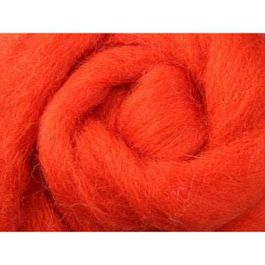 Paradise Fibers Ashford Solid Colored Corriedale Sliver - 2.2lb bag - Pumpkin Pie - 1