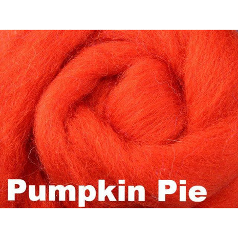 Paradise Fibers Fiber Ashford Solid Colored Corriedale Sliver (4oz bag) Pumpkin Pie 06 / 4oz - 7