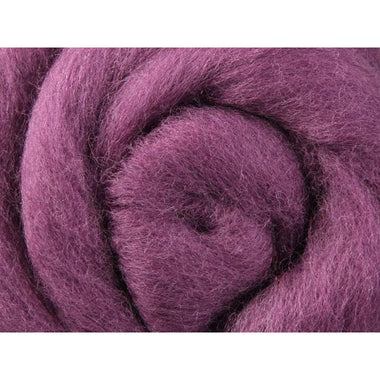 Paradise Fibers Ashford Solid Colored Corriedale Sliver - 2.2lb bag - Grape Jelly - 1