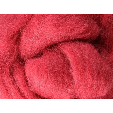 Paradise Fibers Ashford Solid Colored Corriedale Sliver - 2.2lb bag - Strawberry - 1