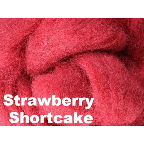 Paradise Fibers Fiber Ashford Solid Colored Corriedale Sliver (4oz bag) Strawberry Shortcake 12 / 4oz - 14