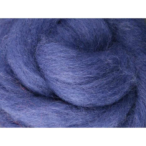 Paradise Fibers Ashford Solid Colored Corriedale Sliver - 2.2lb bag - Blueberry - 1