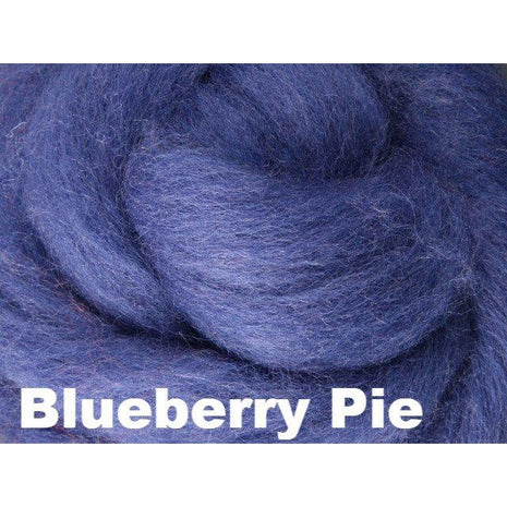 Paradise Fibers Fiber Ashford Solid Colored Corriedale Sliver (4oz bag) Blueberry Pie 13 / 4oz - 15