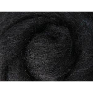Paradise Fibers Ashford Solid Colored Corriedale Sliver - 2.2lb bag - Liquorice - 1