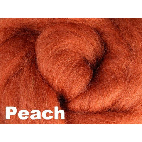 Paradise Fibers Fiber Ashford Solid Colored Corriedale Sliver (4oz bag) Peach 17 / 4oz - 18