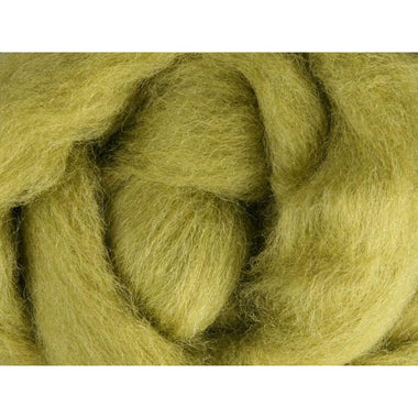Paradise Fibers Ashford Solid Colored Corriedale Sliver - 2.2lb bag - Bean Sprout - 1
