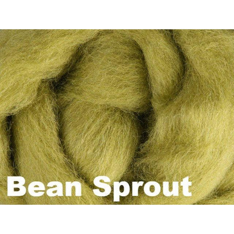 Paradise Fibers Fiber Ashford Solid Colored Corriedale Sliver (4oz bag) Bean Sprout 19 / 4oz - 21