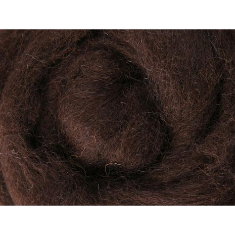 Paradise Fibers Ashford Solid Colored Corriedale Sliver - 2.2lb bag - Chocolate - 1