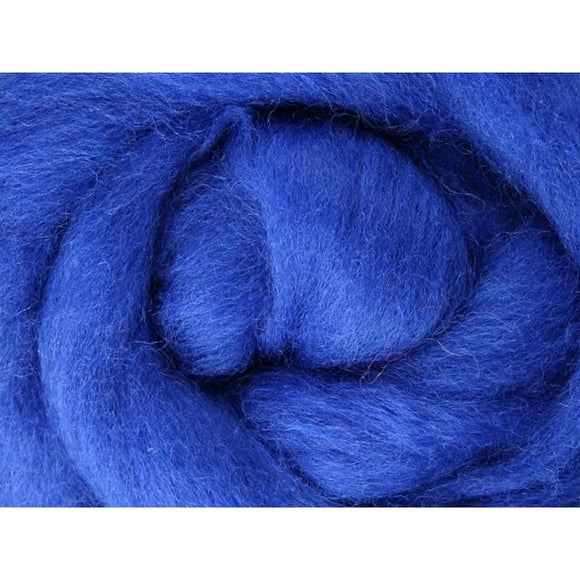 Paradise Fibers Ashford Solid Colored Corriedale Sliver - 2.2lb bag - Blue - 1