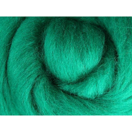 Paradise Fibers Ashford Solid Colored Corriedale Sliver - 2.2lb bag - Green - 1