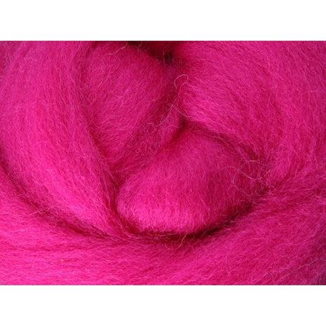 Paradise Fibers Ashford Solid Colored Corriedale Sliver - 2.2lb bag - Magenta - 1