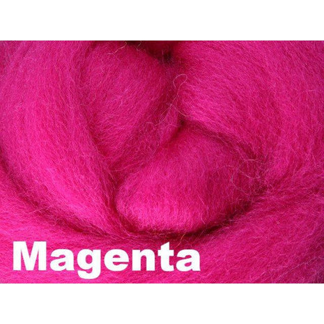 Paradise Fibers Fiber Ashford Solid Colored Corriedale Sliver (4oz bag) Magenta 23 / 4oz - 25