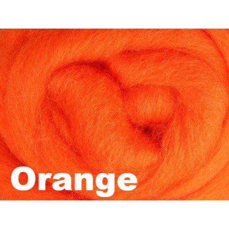 Paradise Fibers Fiber Ashford Solid Colored Corriedale Sliver (4oz bag) Orange 24 / 4oz - 26