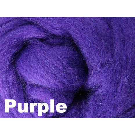 Paradise Fibers Fiber Ashford Solid Colored Corriedale Sliver (4oz bag) Purple 25 / 4oz - 27