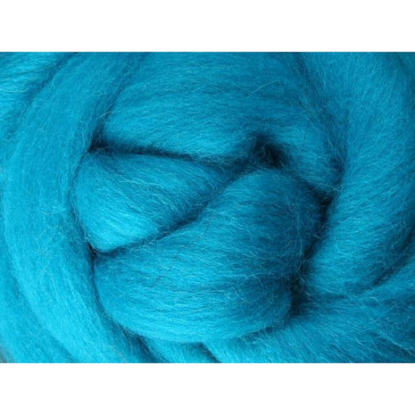 Paradise Fibers Ashford Solid Colored Corriedale Sliver - 2.2lb bag - Turquoise - 1