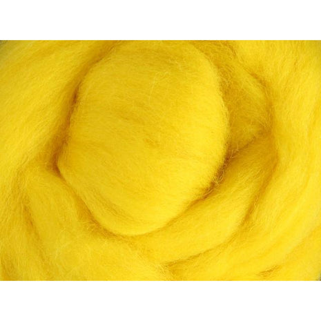 Paradise Fibers Ashford Solid Colored Corriedale Sliver - 2.2lb bag - Yellow - 1