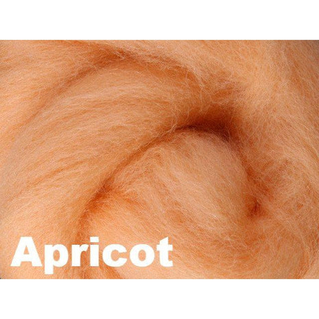 Paradise Fibers Fiber Ashford Solid Colored Corriedale Sliver (4oz bag) Apricot 31 / 4oz - 33