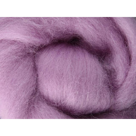 Paradise Fibers Ashford Solid Colored Corriedale Sliver - 2.2lb bag - Lavender - 1