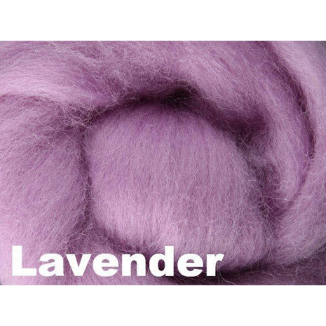 Paradise Fibers Fiber Ashford Solid Colored Corriedale Sliver (4oz bag) Lavender 34 / 4oz - 36