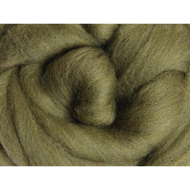 Paradise Fibers Ashford Solid Colored Corriedale Sliver - 2.2lb bag - Olive - 1