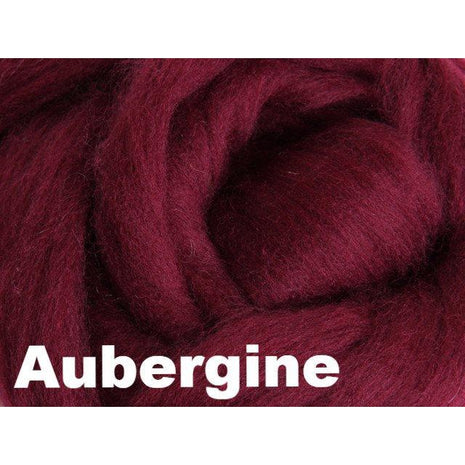 Paradise Fibers Fiber Ashford Solid Colored Corriedale Sliver (4oz bag) Aubergine 39 / 4oz - 39