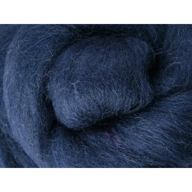 Paradise Fibers Ashford Solid Colored Corriedale Sliver - 2.2lb bag - Indigo - 1