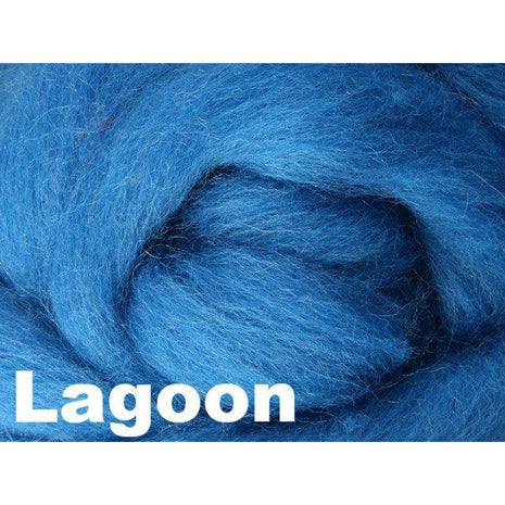 Paradise Fibers Fiber Ashford Solid Colored Corriedale Sliver (4oz bag) Lagoon 42 / 4oz - 42