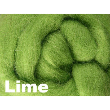Paradise Fibers Fiber Ashford Solid Colored Corriedale Sliver (4oz bag) Lime 43 / 4oz - 43