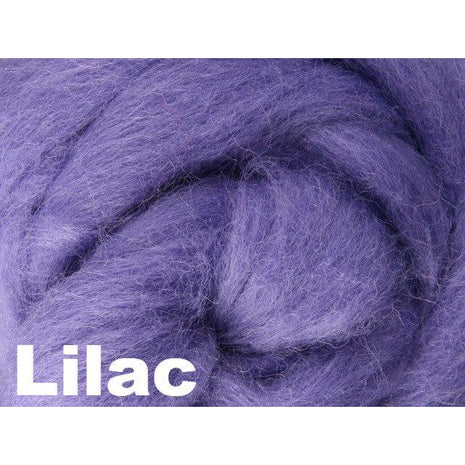 Paradise Fibers Fiber Ashford Solid Colored Corriedale Sliver (4oz bag) Lilac 44 / 4oz - 44