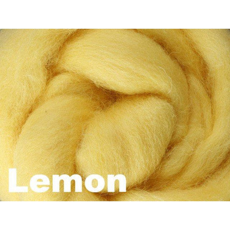 Paradise Fibers Fiber Ashford Solid Colored Corriedale Sliver (4oz bag) Lemon 45 / 4oz - 45