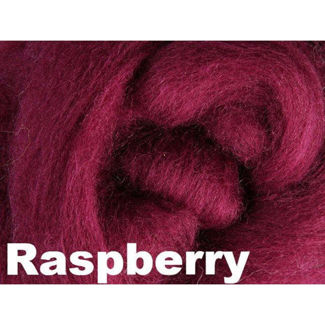 Paradise Fibers Fiber Ashford Solid Colored Corriedale Sliver (4oz bag) Raspberry 47 / 4oz - 47